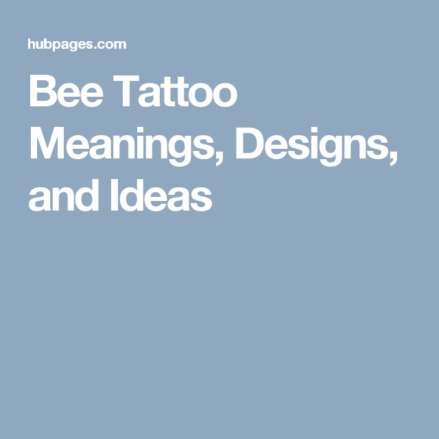 Bee Tattoo Meanings, Designs, and Ideas