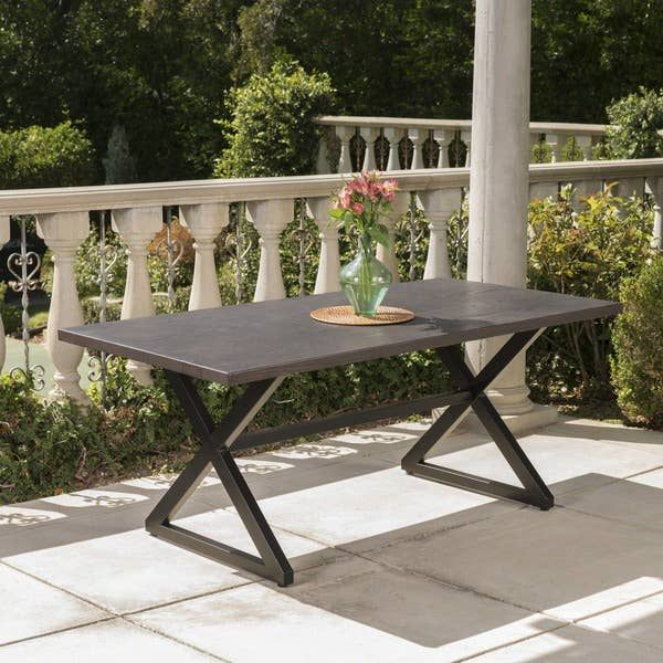 Rolando Outdoor Aluminum Picnic Dining Table By Christopher Knight