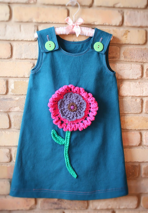Flower Power Toddler Dress Made To Order In by SweetPotatoPrincess, $55.00