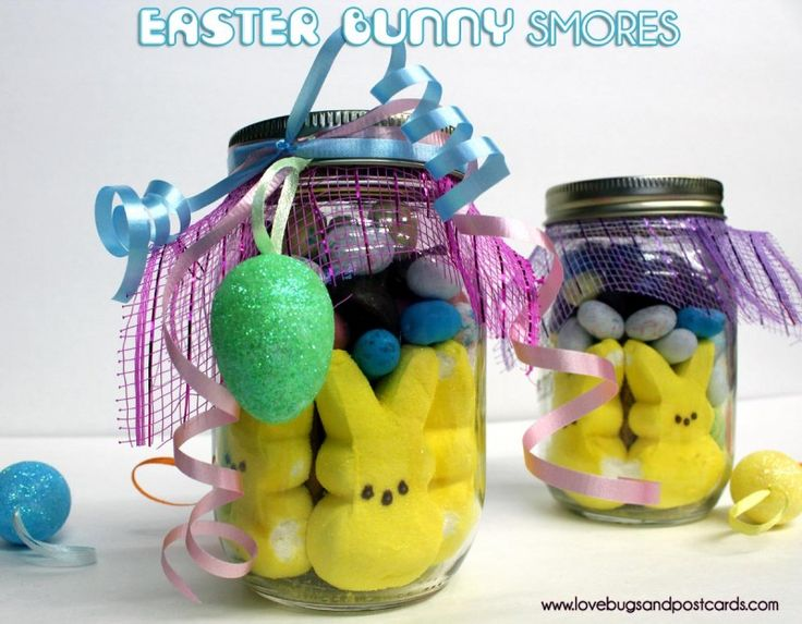 Easter Bunny S'mores {in a mason jar}