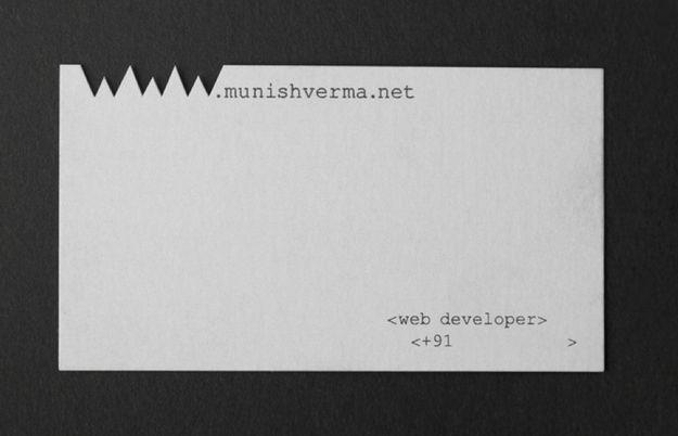 Web developer, via India. | 20 Uniquely Brilliant Business Cards