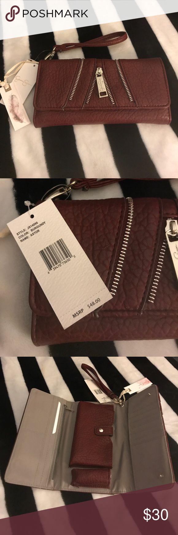 SALE Jessica Simpson Maroon Zipper Wallet ⭐️ Maroon Jessica Simpson Wallet. Brand New with Tags. Cute Zipper Design! Love Love Love This One! ❤️ Jessica Simpson Bags Wallets
