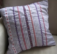 the tut of the pillow made of a shirt.