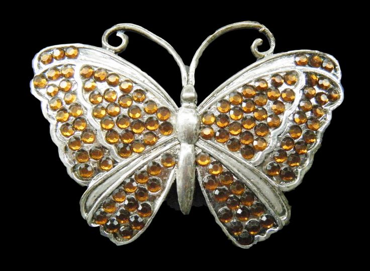 Rhinestone Butterfly Brown Stones Bling Belt Buckles #butterfly #butterflies #brownbutterfly #rhinestonebutterfly #beltbuckle #rhinestonebuckles