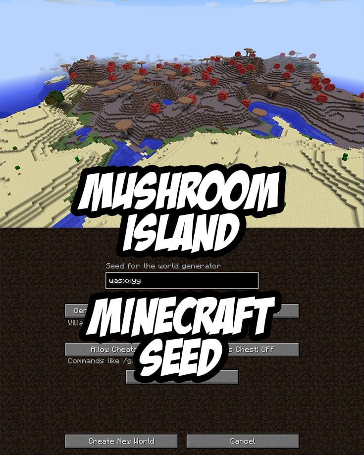 Mushroom Island Seed for PC/Mac Minecraft:wasxxyy