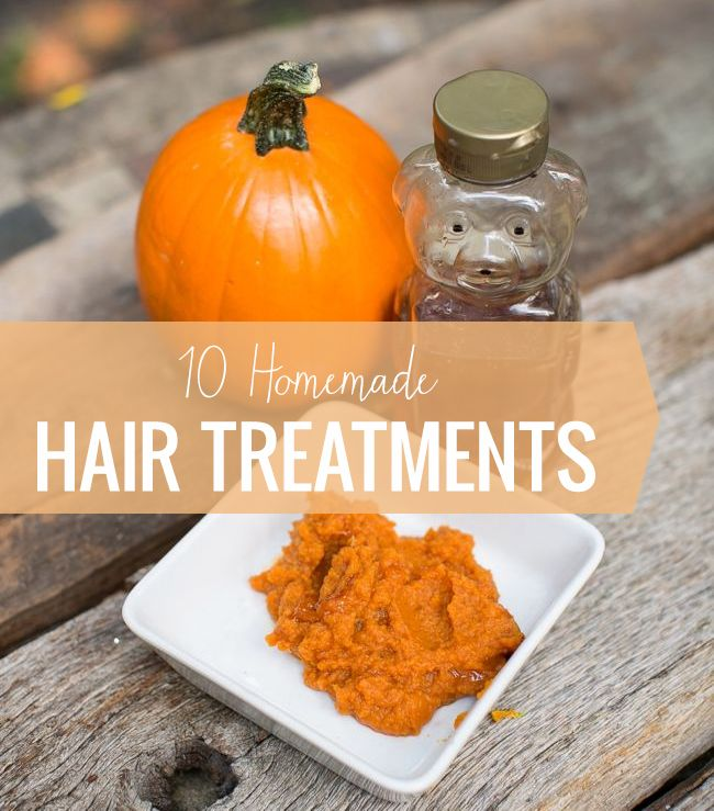 10 Homemade Hair Treatments for Dry, Dull or Frizzy Hair | http://hellonatural.co/homemade-hair-treatments/