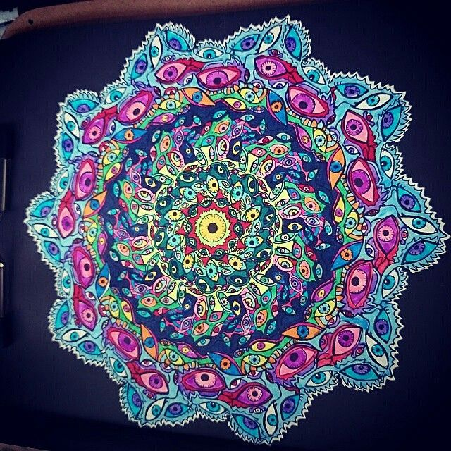 Creative Coloring For Grown Ups Mandalas Adult Coloring Pages ...
