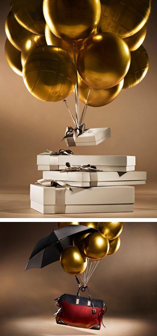 gold ballons burberry