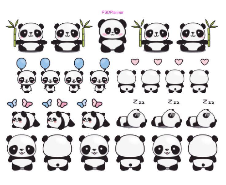 Mignon Panda autocollants, Kawaii autocollants, bambou Panda, planificateur autocollants Erin Condren planificateur, papier prune, Kikki ou Filofax planificateurs par PSDPlanner sur Etsy https://www.etsy.com/fr/listing/254114405/mignon-panda-autocollants-kawaii