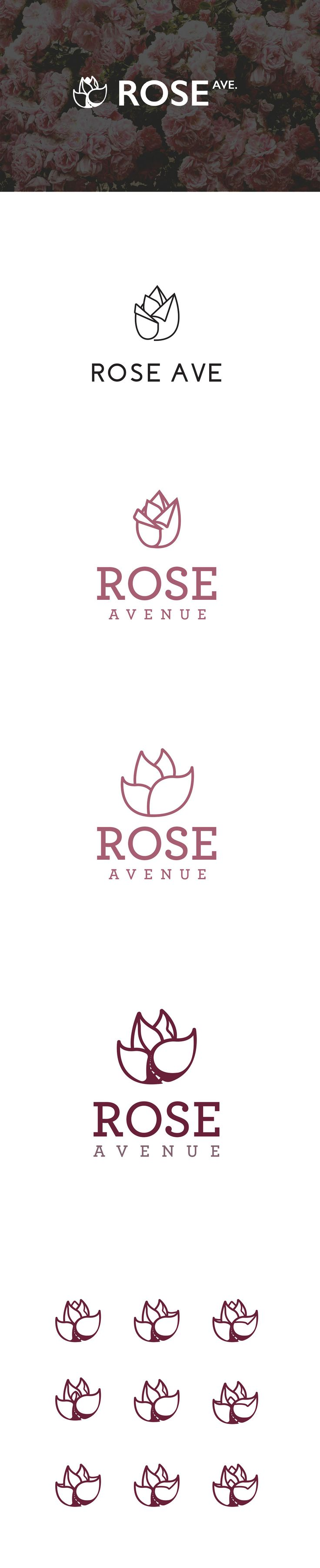 Rose Ave Theme Logo Concepts on Behance