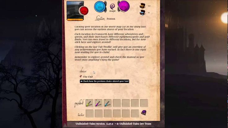 Erannorth: The Unfinished Tales v0.45.9 - Character Creation