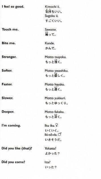 Sexual Words In Japanese