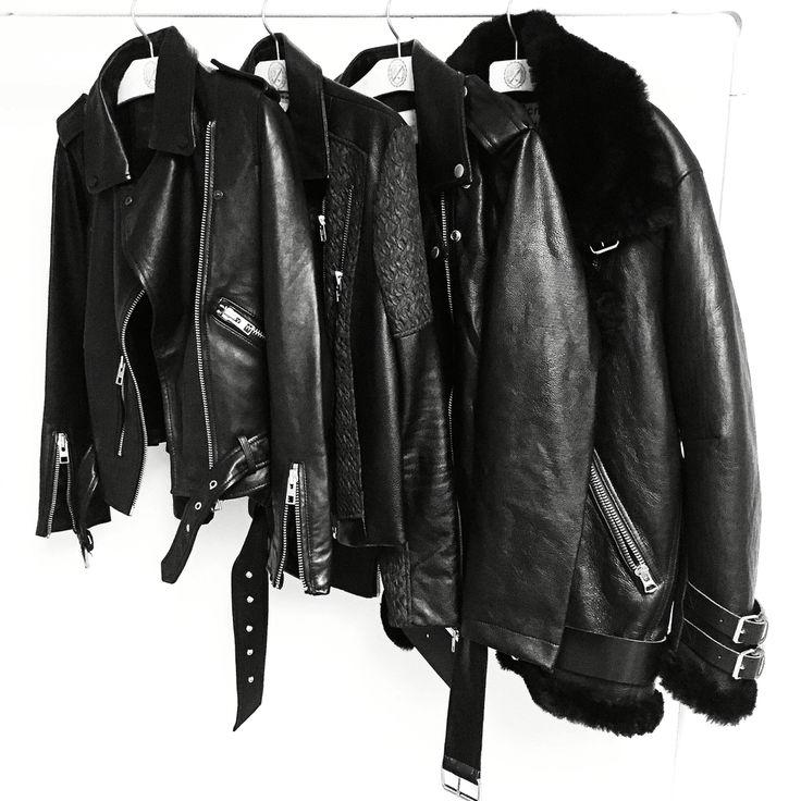 Leather Jacket Love. #acnestudios #allsaints - OVRSLO