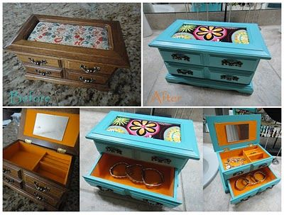 36 best Jewelry Box Redo images on Pinterest Jewelry box makeover