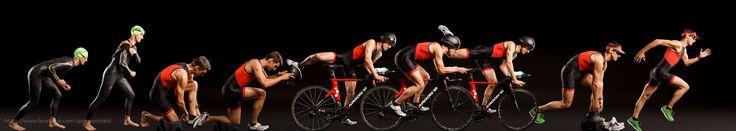 https://flic.kr/p/sXJuw7 | Triathlon Athlete | Triathlon besteht aus Schwimmen im Neoprenanzug, Radfahren auf dem Rennrad und dann noch einen (Marathon)  laufen. Hier also mal der ganze Wettkampf komprimiert in einem Foto. Strobist: 2 striplights from behind, 120cm octabox from front/right. and Obviously a composite.  Canon 6D, 50mm at F8
