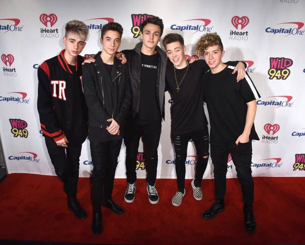 Daniel Seavey Corbyn Besson Jonah Marais Zach Herron and Jack Avery of Why Don't We attend WiLD 949's FM's Jingle Ball 2017 Presented by Capital One...