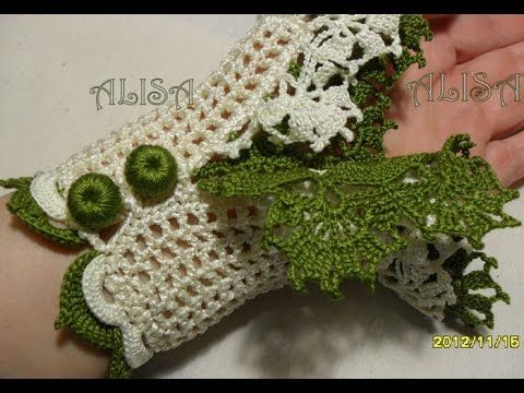 Очень красивые вязаные манжеты.  Very beautiful сrochet cuffs.
