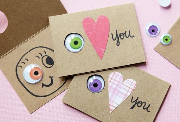 Craft our 3 simple, creative cards for Valentine's Day this year.