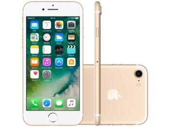 "iPhone 7 Apple 32GB Dourado 4G 4,7"" Retina - Câm. 12MP + Selfie 7MP iOS 10 Proc. Chip A10"