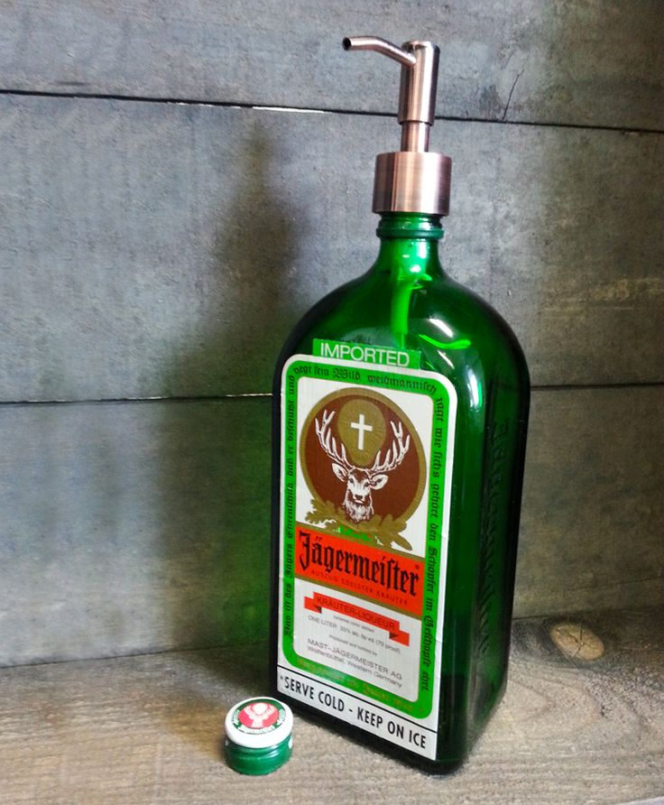 Jagermeister Soap/Lotion Dispenser - Bottle Rehab - Glassware from recycled bottles