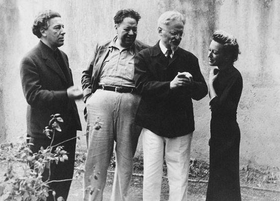André Breton, Diego Rivera, Léon Trotski et Jacqueline Lamba (Mexique, 1938)