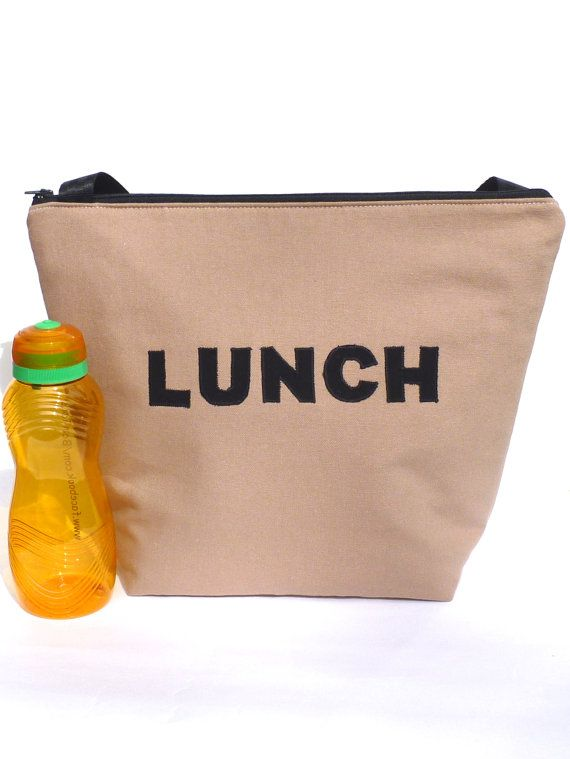 Insulated Large Lunch Bag Man Lunch Bag Brown Work by BonTons