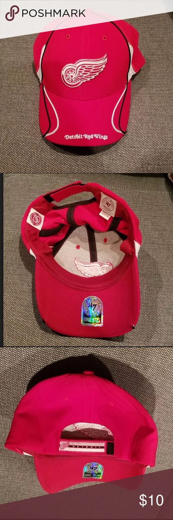 Forty Seven Brand Detroit Red Wings Hockey Hat Detroit Red Wings Hockey Team Hat  Hat is in good condition and hasn't been worn more than a couple of times.  Let me know if you need measurements and make me an offer! 47 Accessories Hats