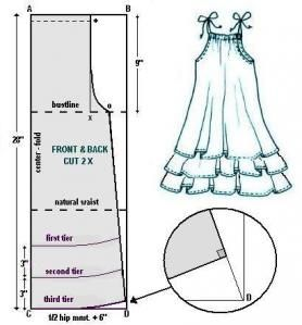 baby doll dress - Intended for grownups but I am going to try for my little girl.