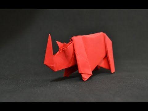 Origami: Rhino - YouTube