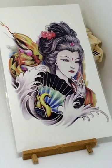 One Piece Sexy Beauty Snake Tattoo Sticker