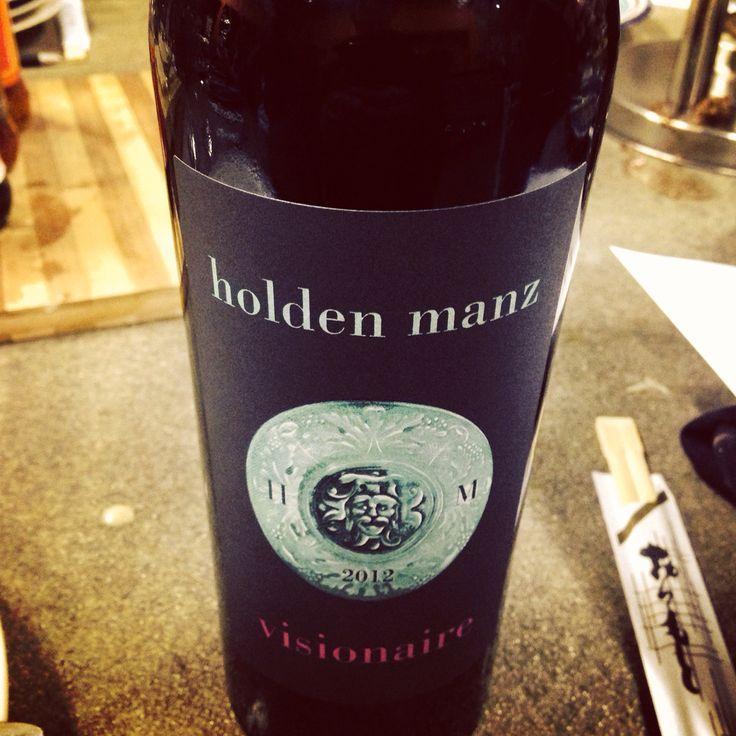 Holden Manz - Vissionaire: Bordeaux blend, plus a little added Shiraz