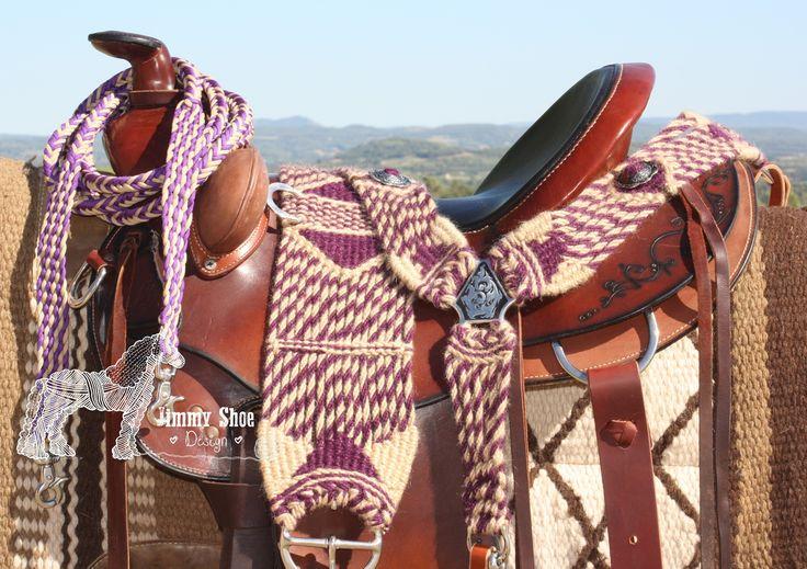 100% Mohair Breast Collar # Collier de chasse 100% Mohair # 100% Mohair Vorderzeug