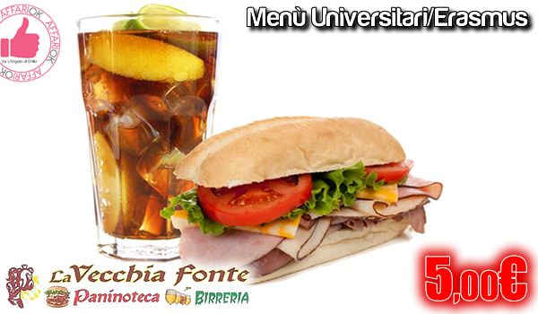 Menù Universitari/Erasmus Da La Vecchia Fonte http://affariok.blogspot.it/