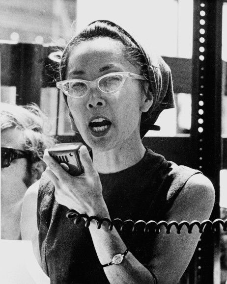 Yuri Kochiyama, Japanese member of the Black Panther Party.