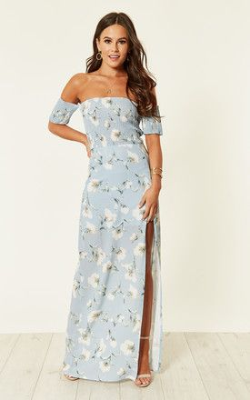 3a735ab1b5317 Skylar Bardot Maxi Dress Blue By Girl In Mind | MY Style (one day ...