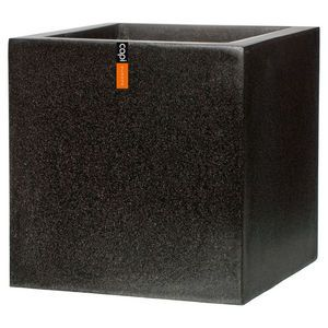 Capi Europe Lux Outdoor Planter Square Black 40x40x40cm
