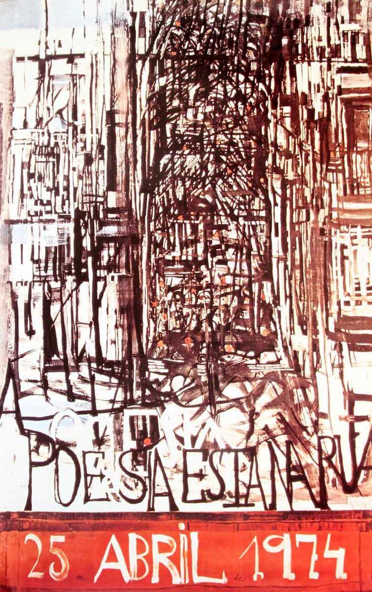 Cartaz 25 de Abril, A Poesia está na rua - Maria Helena Vieira da Silva