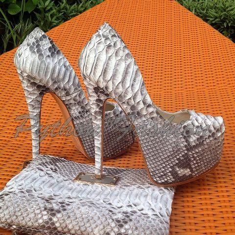 Туфли из питона на каблуке шпильке Star | Python Fashion