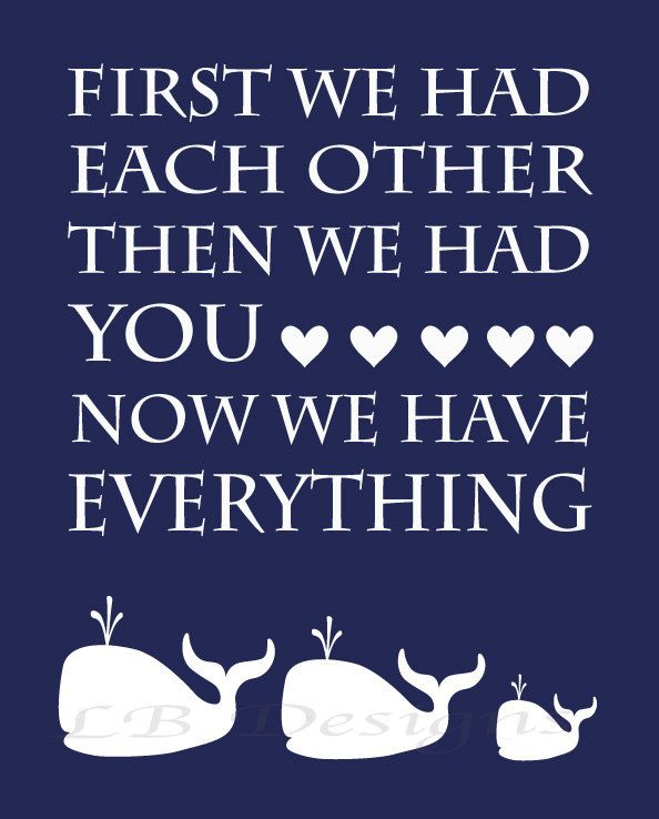 Navy Blue and White Whale/Nautical Nursery Quote by LJBrodock, $10.00