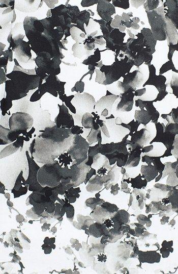Monochrome floral textile print - modern surface pattern design for fashion // Maggie London