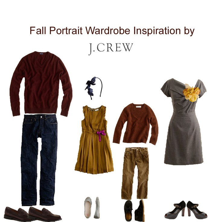 Fall Family Wardrobe...but would suggest throwing a pattern in there as well.