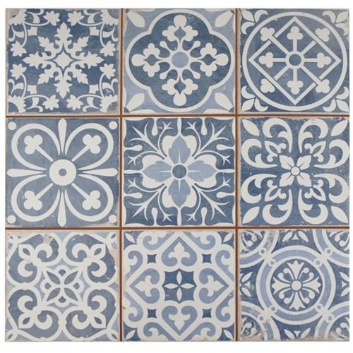 Merola Tile, Faenza Azul 13 In. Ceramic Floor And Wall Tile Sq. / Case),  FPEFAEA At The Home Depot   Mobile   Check This Out For Laundry/mud Room