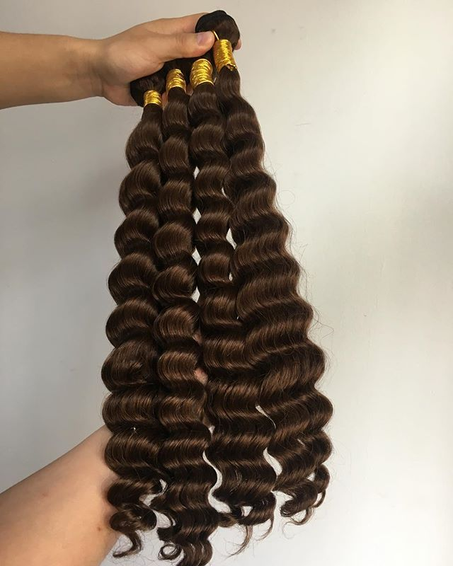 brown color, deep wave more than 10years experience wholesale human hair supplier, hair extension, wigs, lace closure. fast delivery, factory price, sample order is welcomed  contact details e-mail : jennytang@hanhonghair.cn Whatsapp:  +86 18765423795 Trademanager: cn1519089705jrpn  Alibaba website: https://hanhonghairmanufacture.en.alibaba.com