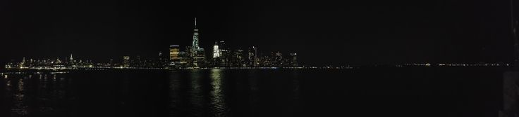 Panorama of Lower Manhattan seen from Jersey City [76481744] [OC]