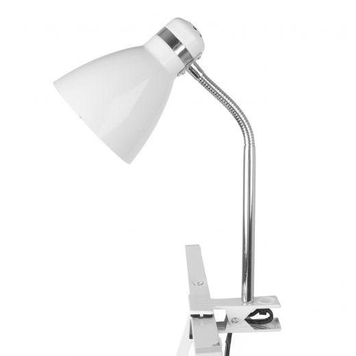 Hurn & Hurn Discoveries Leitmotiv Clip On Desk Lamp - White