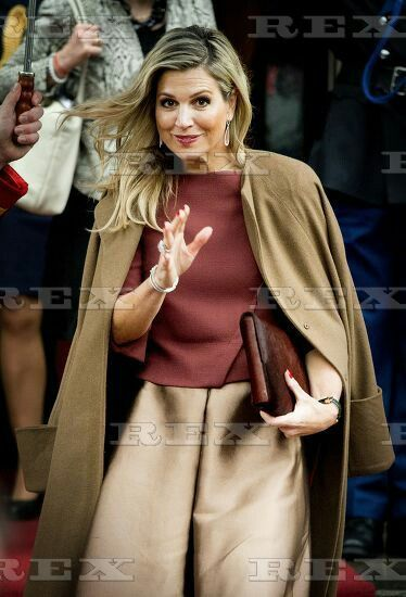 European Comission visits Amsterdam, The Netherlands - 07 Jan 2016 Queen Maxima 7 Jan 2016