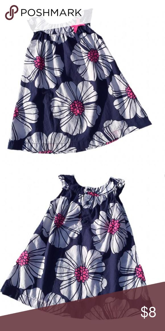 *Carter's Dress 18 month dress from Carter's. Navy, white, and bright pink floral print. Carters Dresses