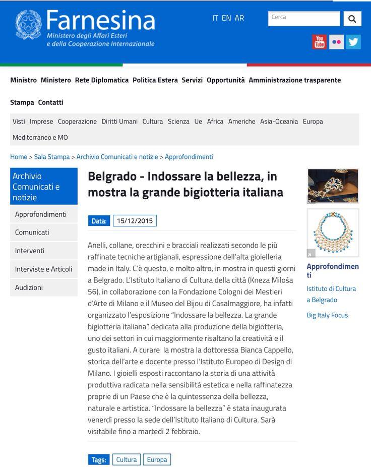 Mostra a Belgrado  - Ornella Bjoux