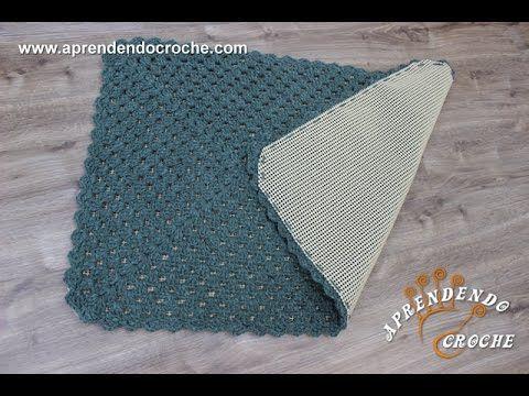 Aplicação Tela Antiderrapante em Tapetes de Crochê - YouTube