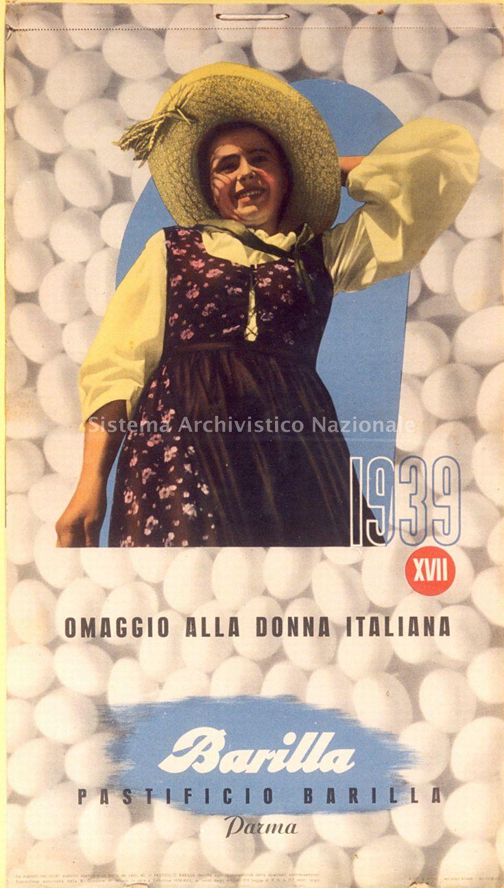 1939 - Copertina del calendario pubblicitario della Barilla